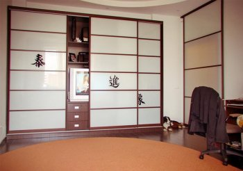 Шкаф купе в японском стиле
