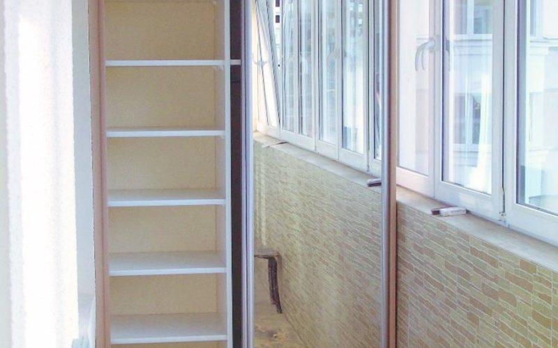 Купить шкаф купе на балкон небольшой