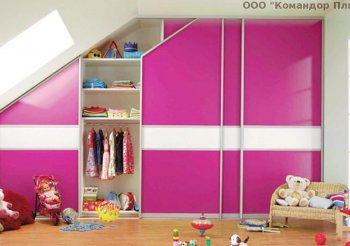 Шкаф купе в подростковую комнату для девочки