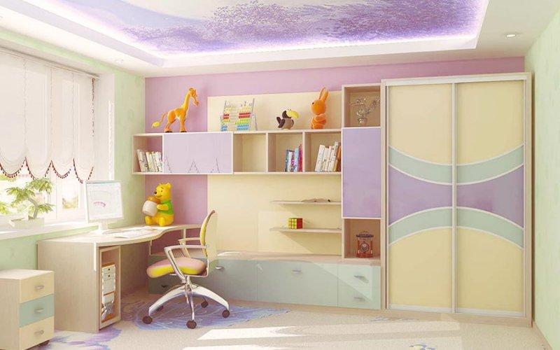 Детский шкаф купе для девочки