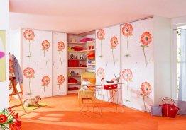 Шкаф купе в детскую комнату для двоих