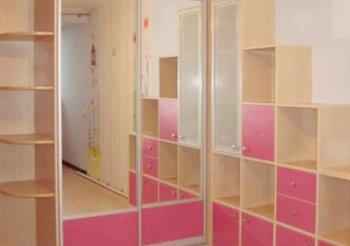 Угловой шкаф купе в детскую комнату