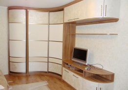 Модульная стенка со шкафом купе в гостиную