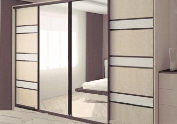 Шкафы купе 4х дверные зеркала