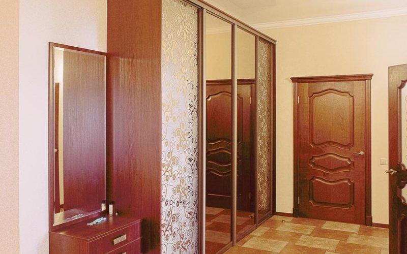 Двери шкаф купе зеркало пескоструй