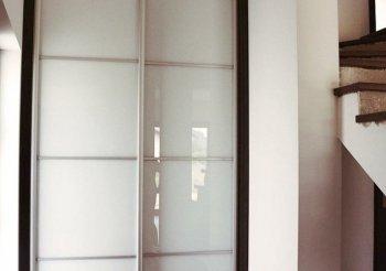 Шкаф купе в прихожую глянец