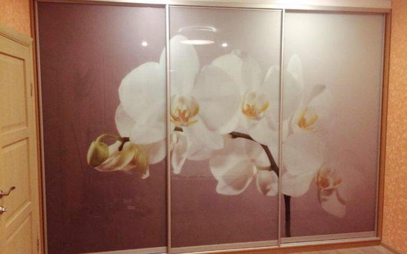Шкаф купе орхидея