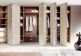 Системы складных дверей для шкафа купе аристо