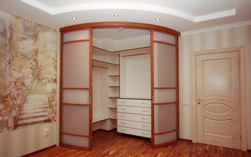 Угловой шкаф купе гардеробная 1
