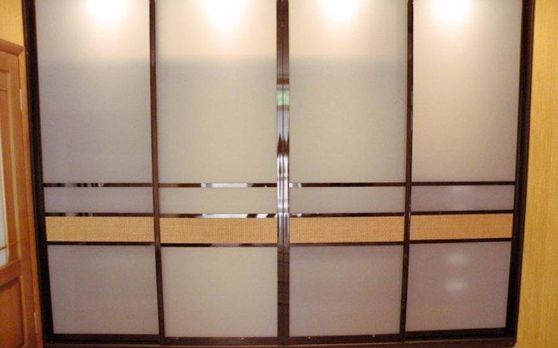 Шкаф купе двери стекло матовое