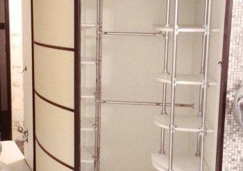Матовые угловые шкафы купе