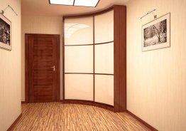 Угловой шкаф купе с радиусными дверями