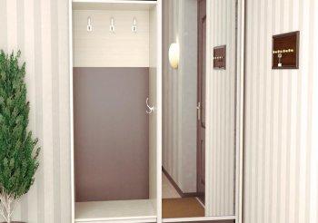 Прихожая для узкого коридора со шкафом купе