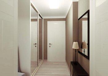 Белый шкаф купе в коридор