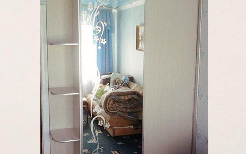Шкаф купе 2х створчатый с зеркалом