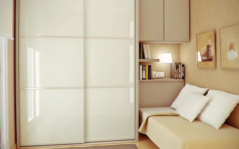 Шкаф купе в спальню белый глянец купить