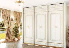 Шкаф купе белый с золотом