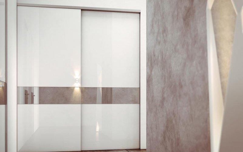 Шкаф купе белая эмаль