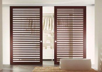 Деревянные двери для шкафа жалюзи