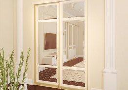 Двери купе МДФ для гардеробной комнаты