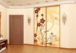 Угловые алюминиевые двери купе в гардеробной