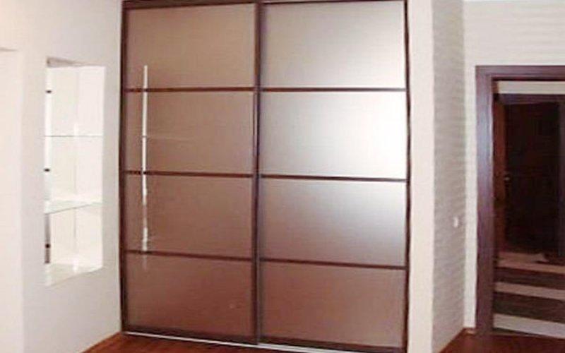 Раздвижные двери бронза матовые