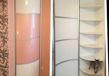 Распашные двери в алюминиевом профиле для шкафов