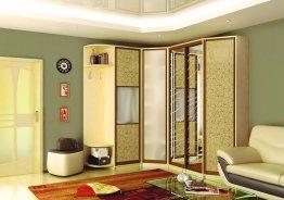 Г образный шкаф с распашными дверями