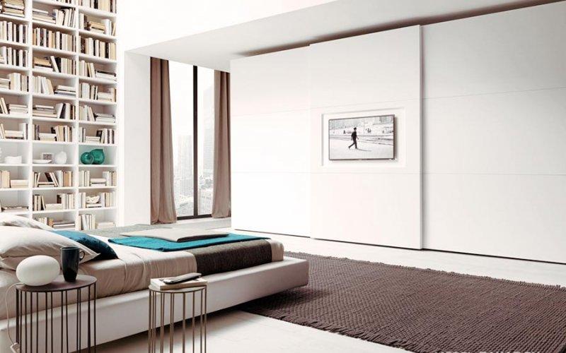 Двери купе для современной спальни