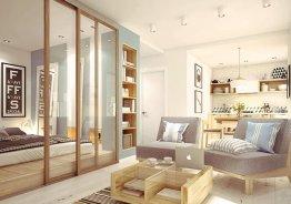 Стеклянную межкомнатную перегородку с раздвижными дверями