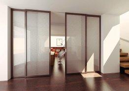 Раздвижные четырехстворчатые межкомнатные двери