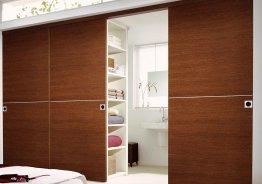 Раздвижные двери из 4-х полотен в гардеробную