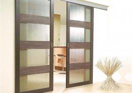 Раздвижные стеклянные двери на кухню