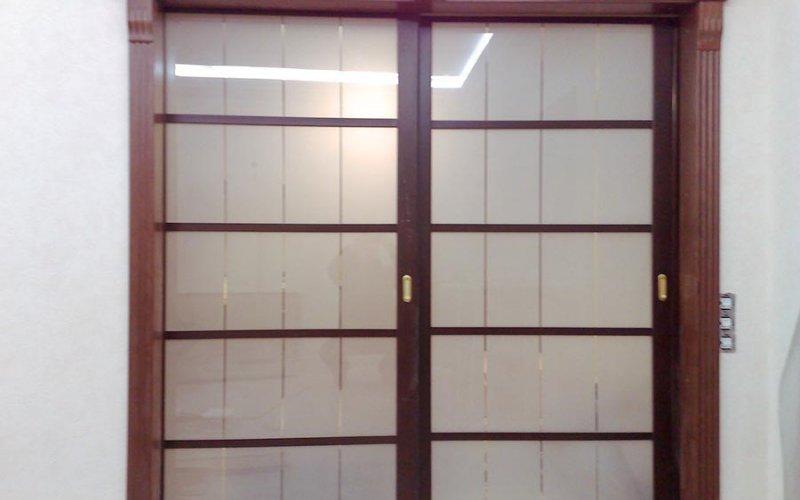 Раздвижные двустворчатые двери межкомнатные