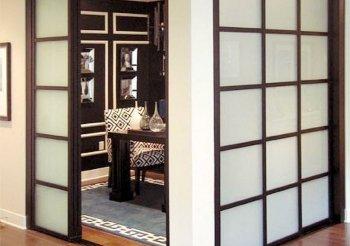 Двери межкомнатные раздвижные массив