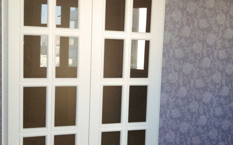 Раздвижные двухстворчатые двери межкомнатные цена