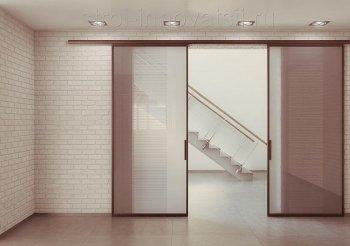 Двухдверные раздвижные двери