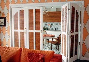 Двери на кухню раздвижные гармошка цена