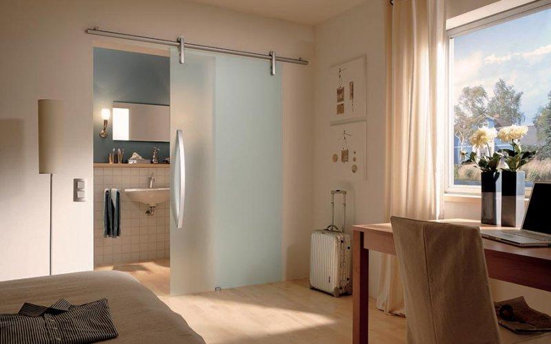 Купить раздвижные стеклянные двери для ванной