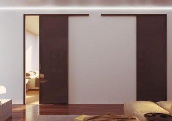 Раздвижные двери без стекла