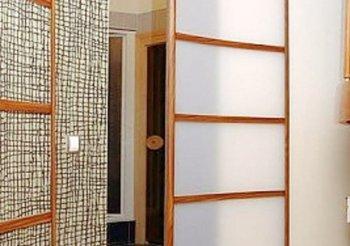 Радиусные двери раздвижные два полотна
