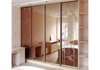 Двери для шкафа купе с пескоструйным рисунком