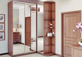 Распашной шкаф с зеркальными дверями на заказ