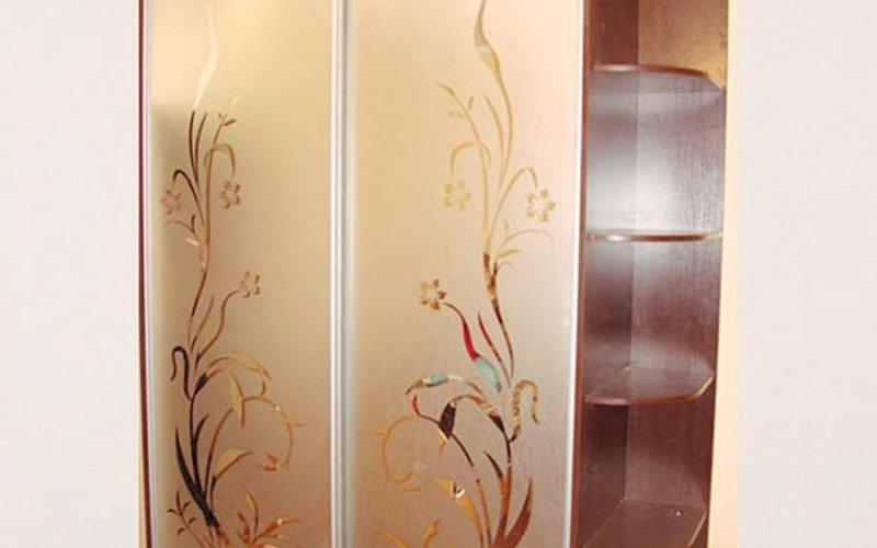 Матовые зеркальные двери для шкафа купе