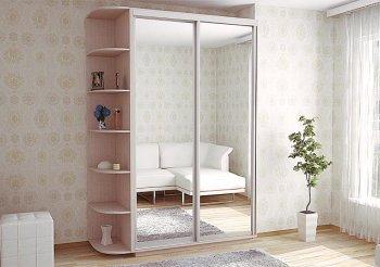 Шкаф купе 2 двери с зеркалом