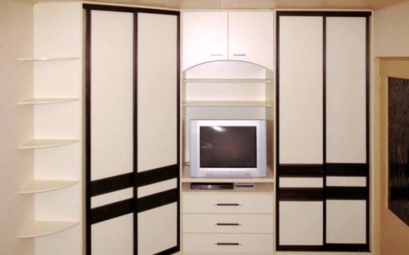 Угловой шкаф купе 4 двери