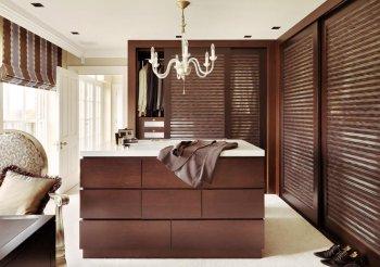 Двери жалюзи для шкафа деревянные