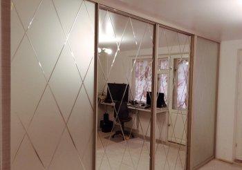 Двери купе зеркало ромбы