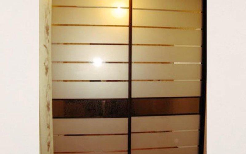Комбинированные двери для шкафа купе с зеркалом