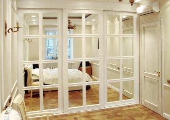 Шкафы купе с дверями из мдф белый